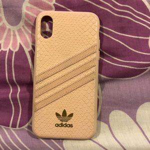 EUC ADIDAS Baby Pink IPhone X/Xs case